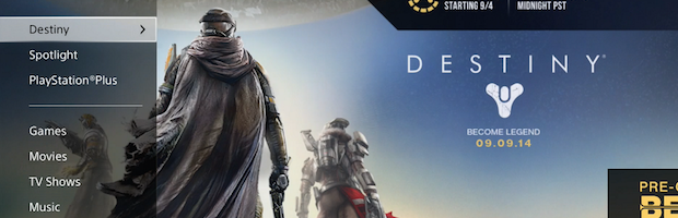Destiny Preordering