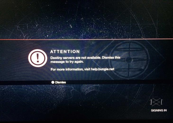 111 Destiny Server On PS4 Is Now Unavailable